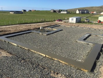 first delivery 796 Borve footings concrete fill