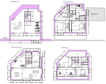Heol Rhyd 4 storey plans