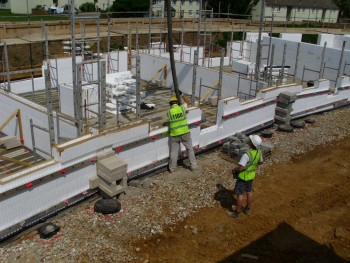social housing, kent - concrete pumping