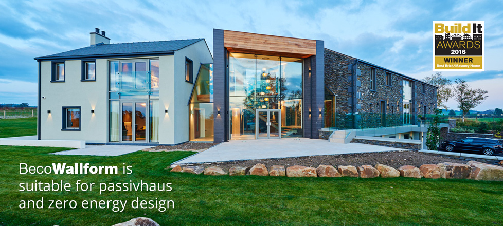 BecoWallform is suitable for passivhaus and zero energy design