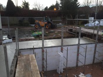 Pool House construction