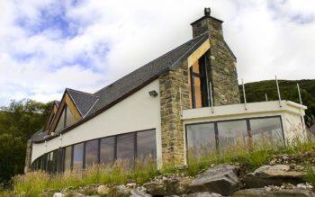 Stone-clad home overlooking Loch Ailort