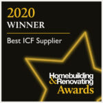 WINNER logo for Best ICF Supplier 2020 - Beco Products Ltd