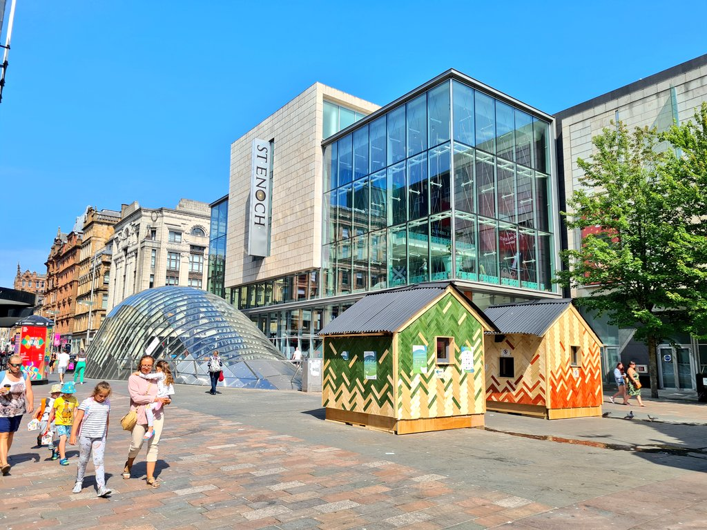 Two Icebox huts in St Enoch Square Glasgow