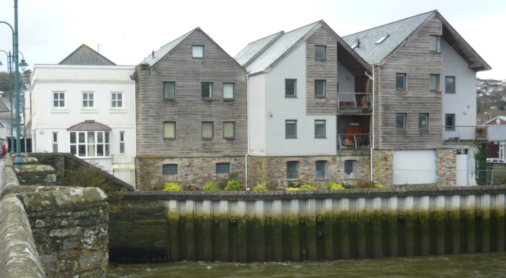 ICF Apartments standing on the edge of a river