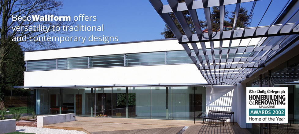 BecoWallform offers enhanced levels of design flexibility