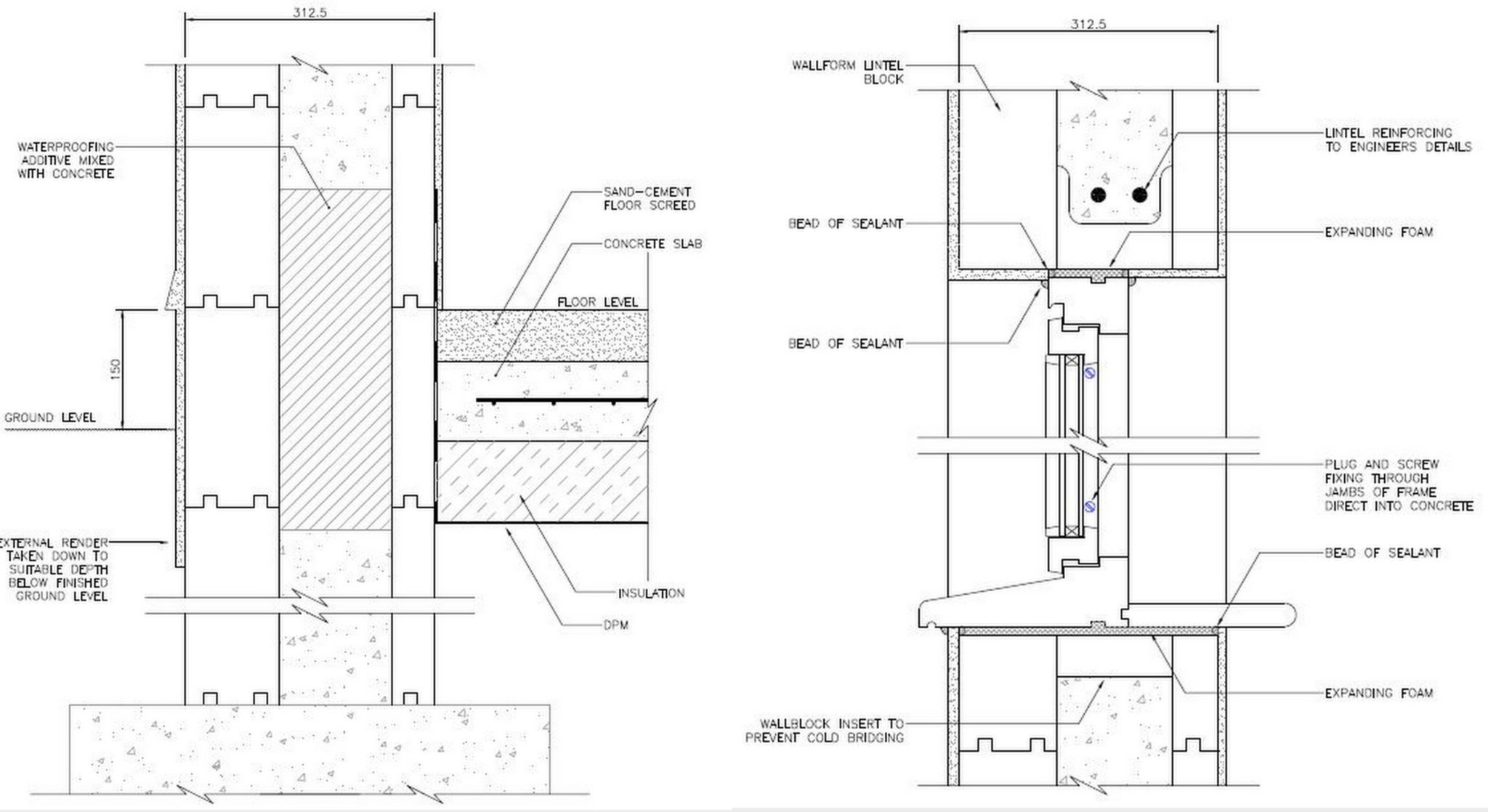 Construction Details - BecoWallform Insulated Concrete Formwork