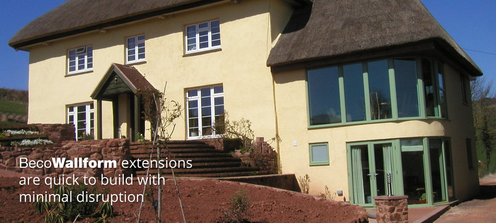 Wallform extensions are quick to build with minimal disruption