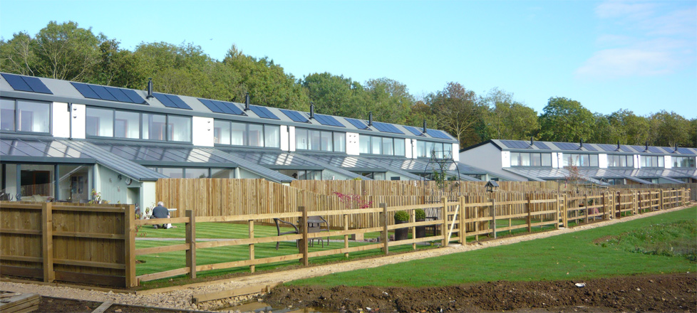 A development of Passivhaus homes built to Fabric First principles in Lincolnshire using BecoWallform