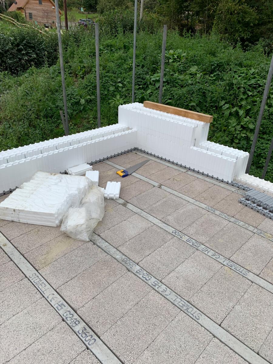 Beam and block floor on Wallform ICF