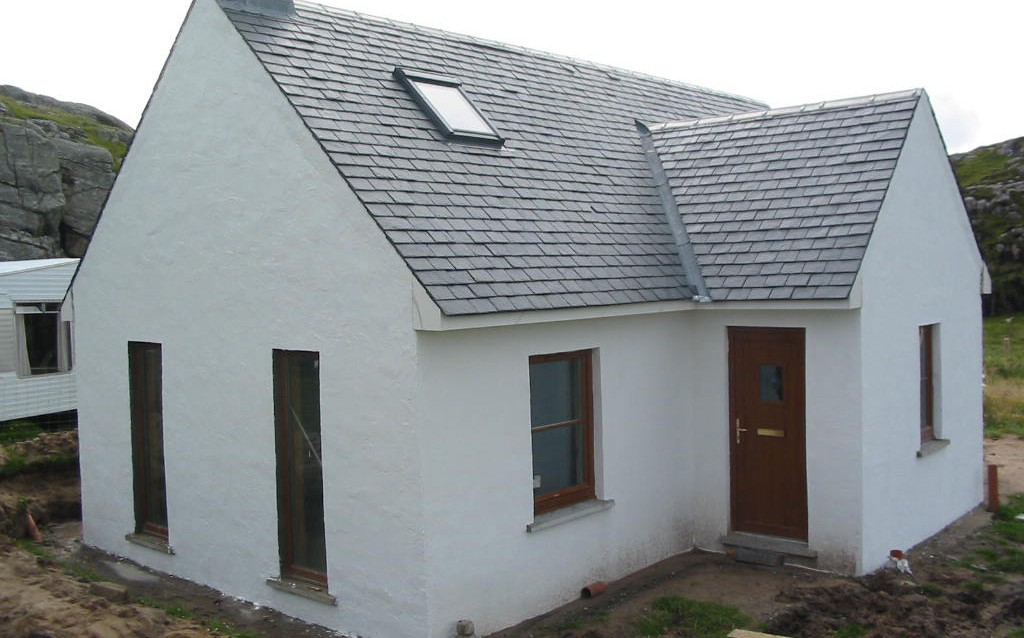 Self Build on the Isle of Coll, with no easy access!