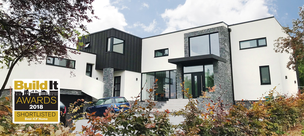 A super-insulated home shortlisted for Best ICF Home 2018 with Build It Magazine
